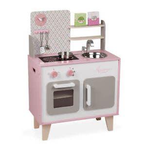 Janod j06567 cuisine pour enfants filles en rose macaron for Cuisine janod