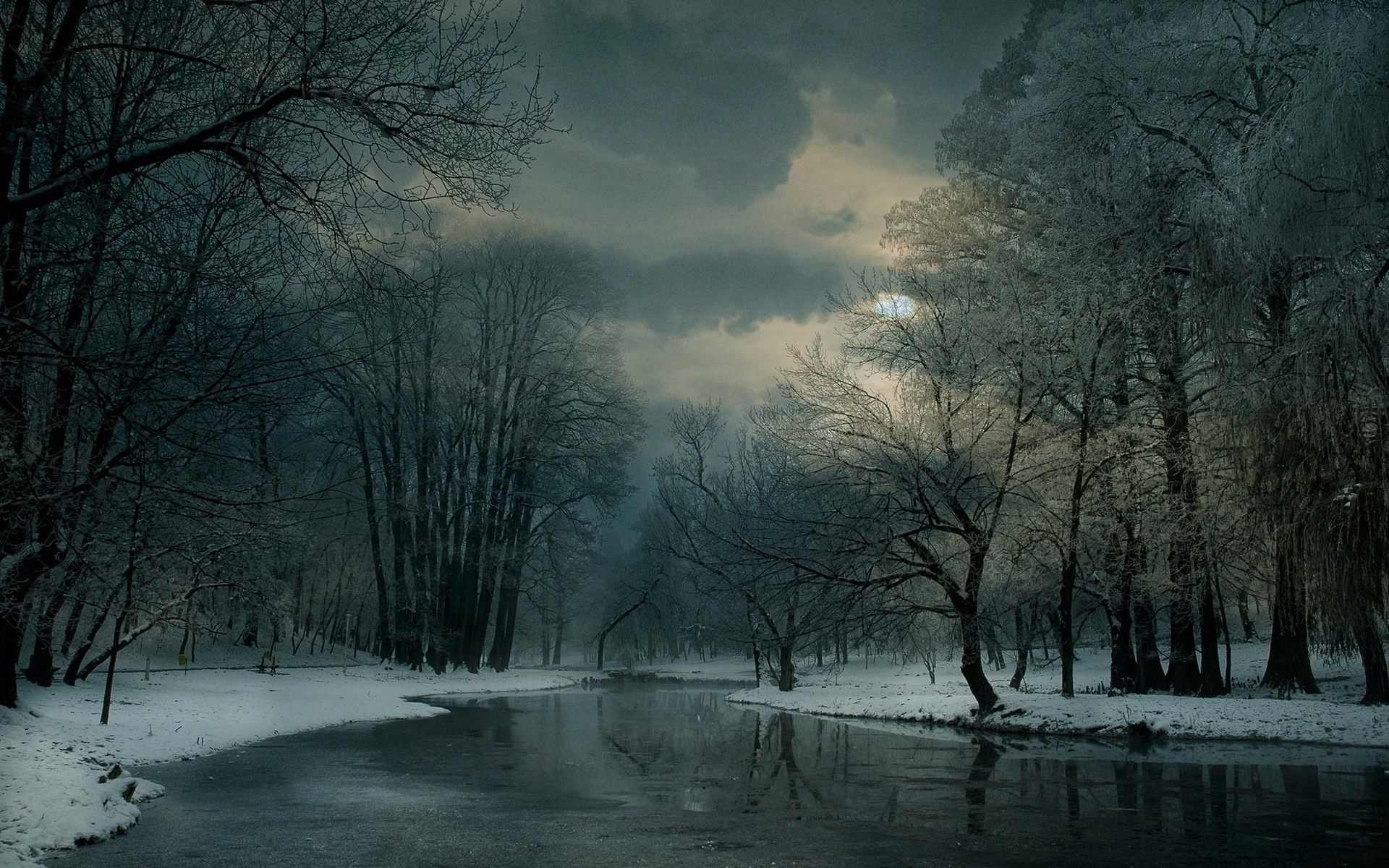 Landscape Nature Winter River Clouds Snow Forest Frost Trees Cold Mist Wallpaper And Background Landscape Photography Nature Winter Landscape Landscape