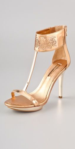BCBGMAXAZRIA T Strap Sandals
