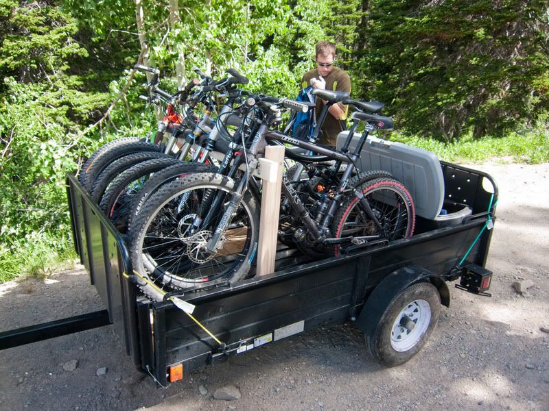 Trailer Bike Rack >> Bike Rack For 4x8 Trailer Beach Gear Utility Trailer