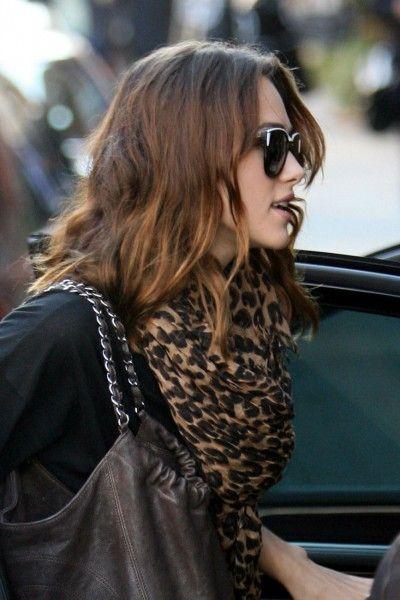 Leopard scarf ~ Keira Knightley