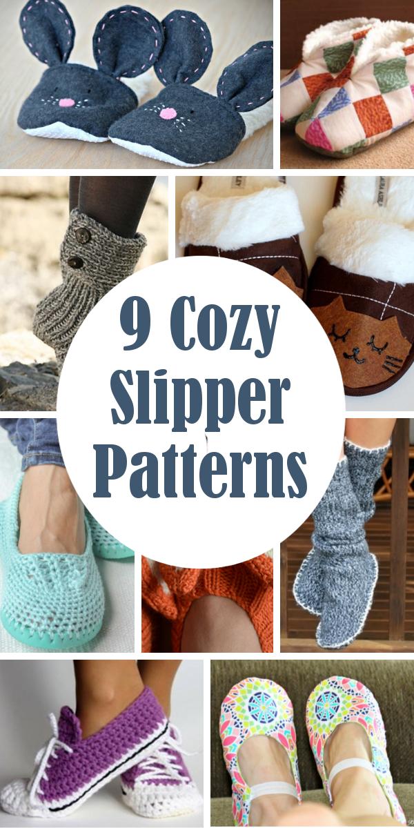9 Cozy Slipper Patterns | Pinterest | Crochet patrones, Costura y ...