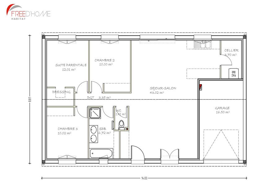 plan maison 90m2 avec garage plan maison house plans house design et house