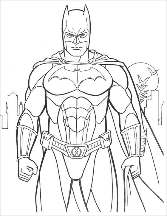 Batman in all its glory coloring page for boys pages http www