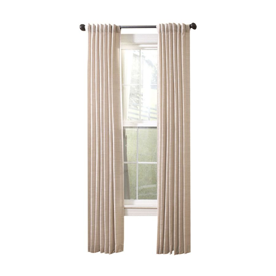 Allen Roth Evington 84 In Dove Cotton Light Filtering Single Curtain Panel Lowes Com Panel Curtains Allen Roth Curtains
