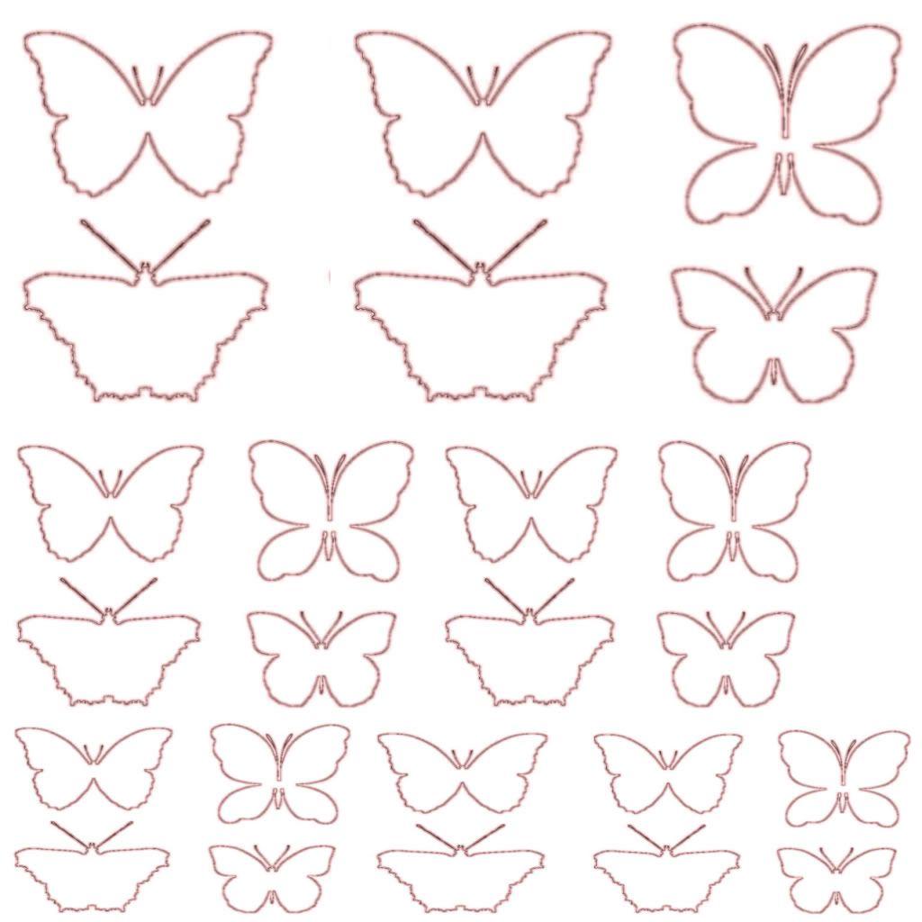 Sagome Di Farfalle Da Colorare E Ritagliare Per Bambini In Disegni