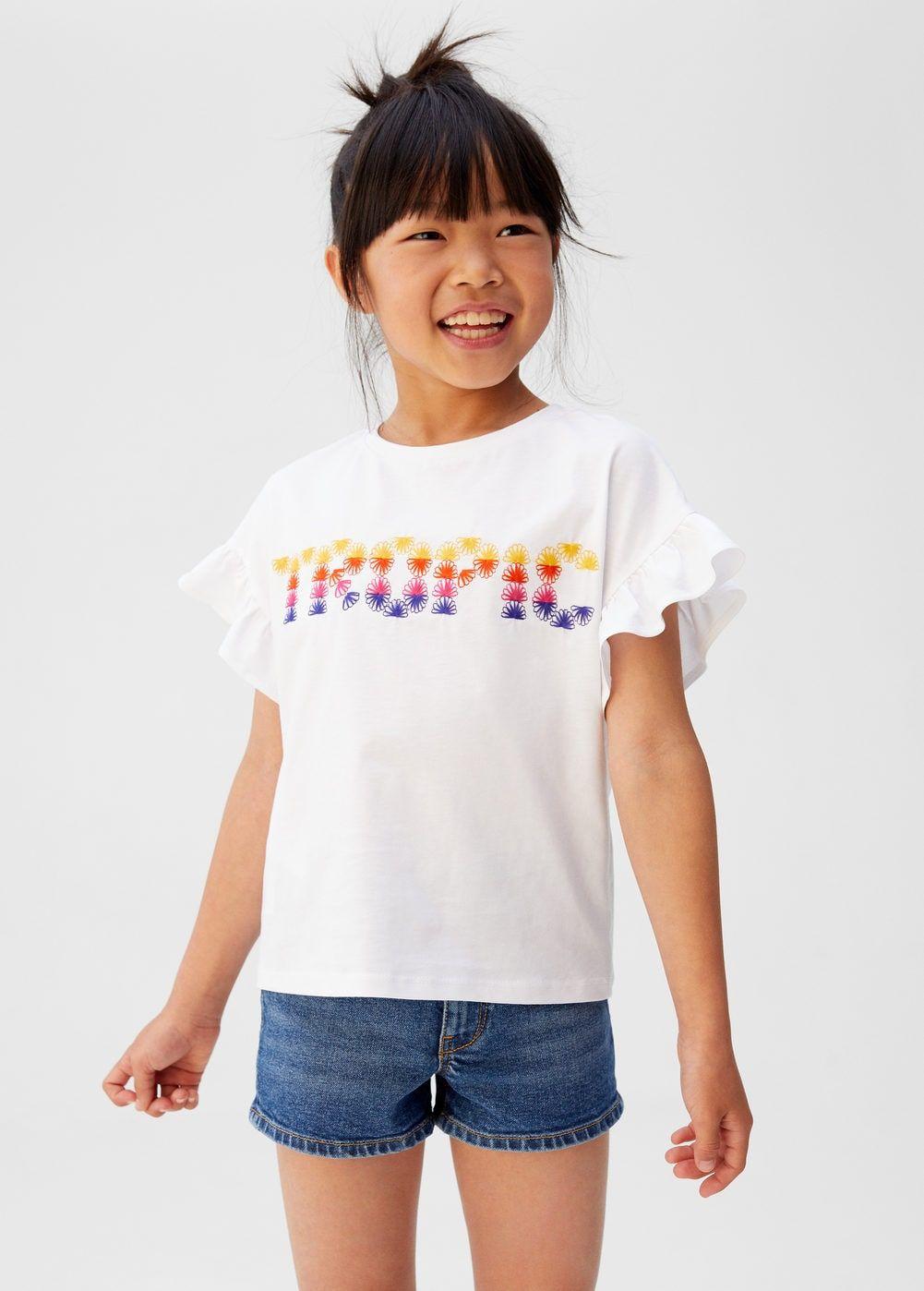 comprar online aef11 49366 Camiseta mensaje bordado - Niña | GIRLS in 2019 | Shirts for ...