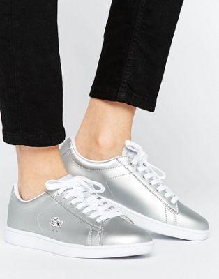Lacoste Silver Evo Metallic Fashion SneakersWomen's En Carnaby wOiTluPZXk