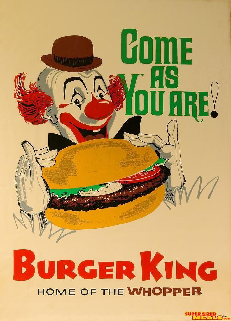 1960s Burger King Poster