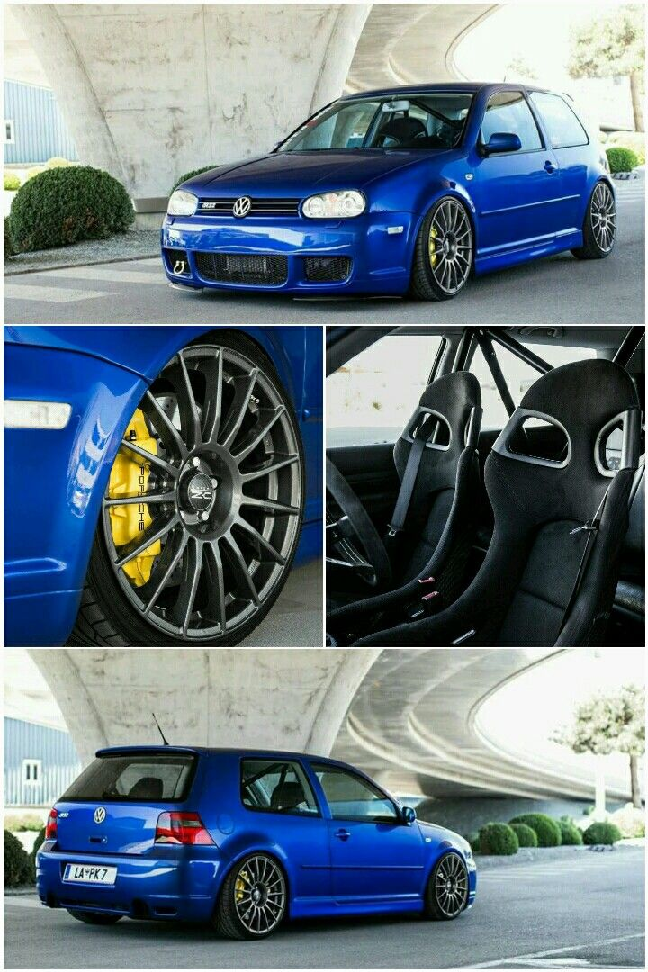 volkswagen golf mk  vr   piston calipers  oz wheels happiness vw golf mk
