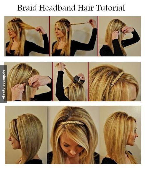Geflochtenes Haarband Hair ♥ Pinterest Geflochtene Haarbänder