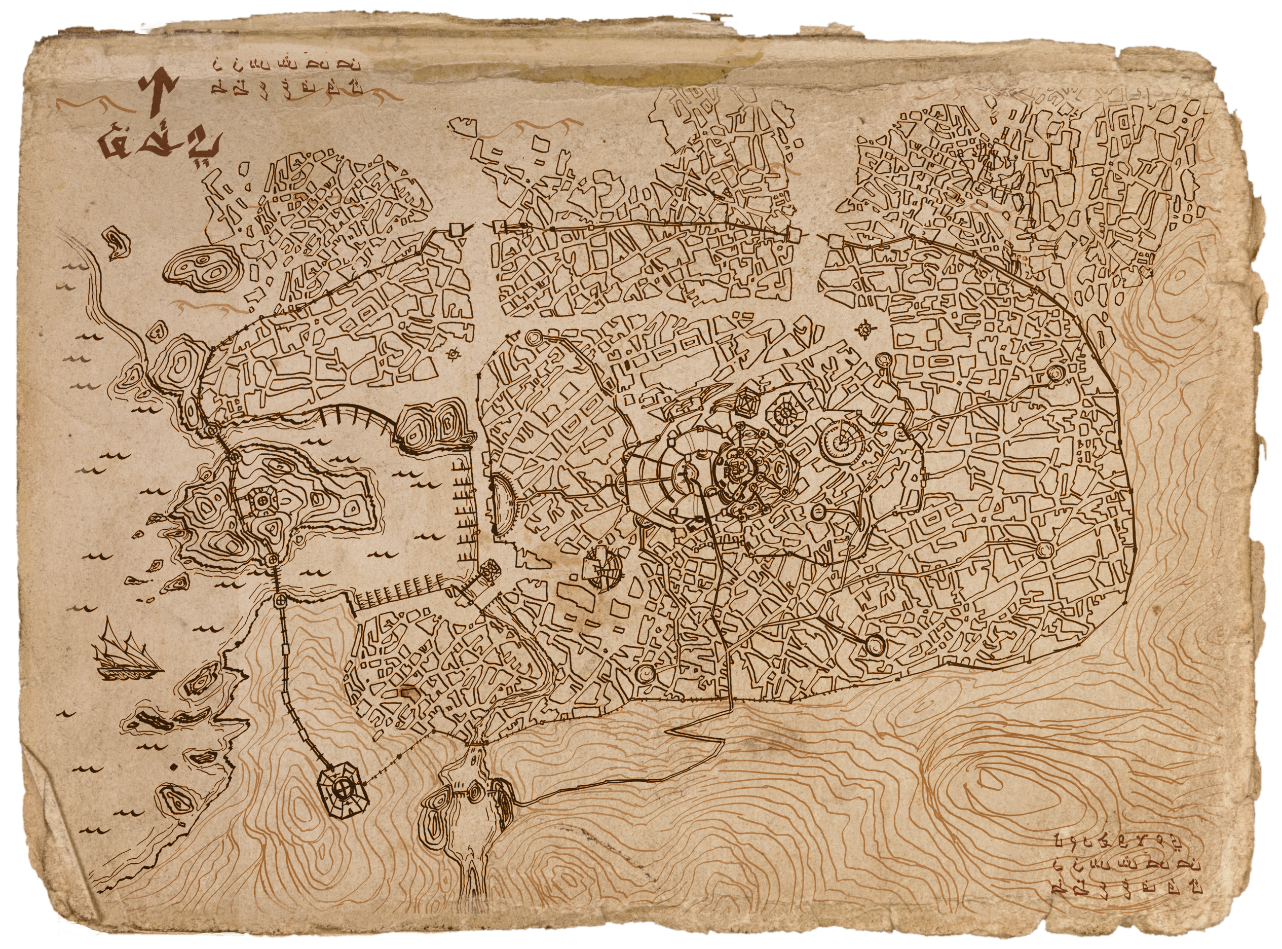 Map of the City of Umbar Harad LOTR by DireImpulsedeviantart
