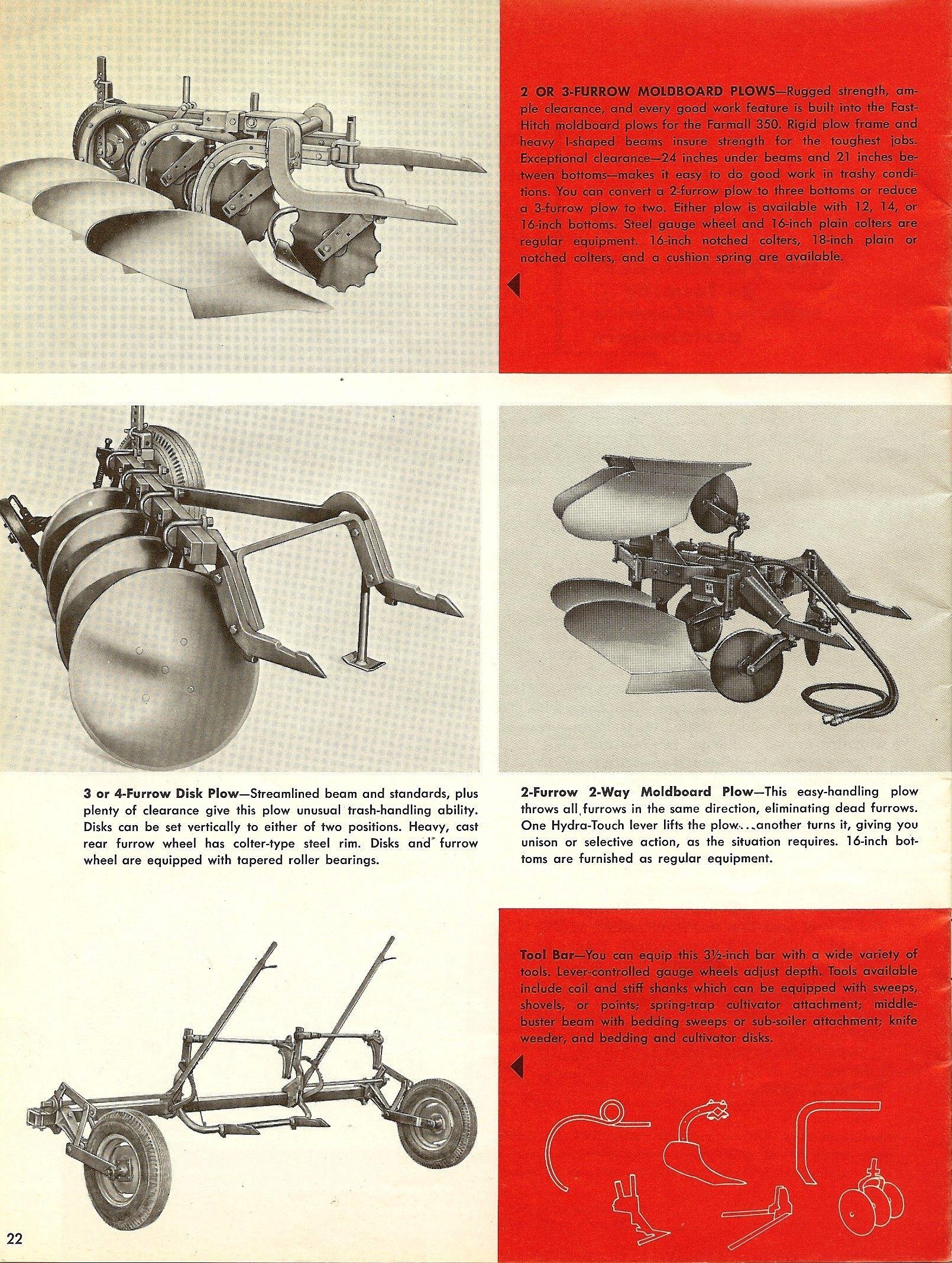 FARMALL 350 Brochure | farmall | Vintage tractors, Tractor