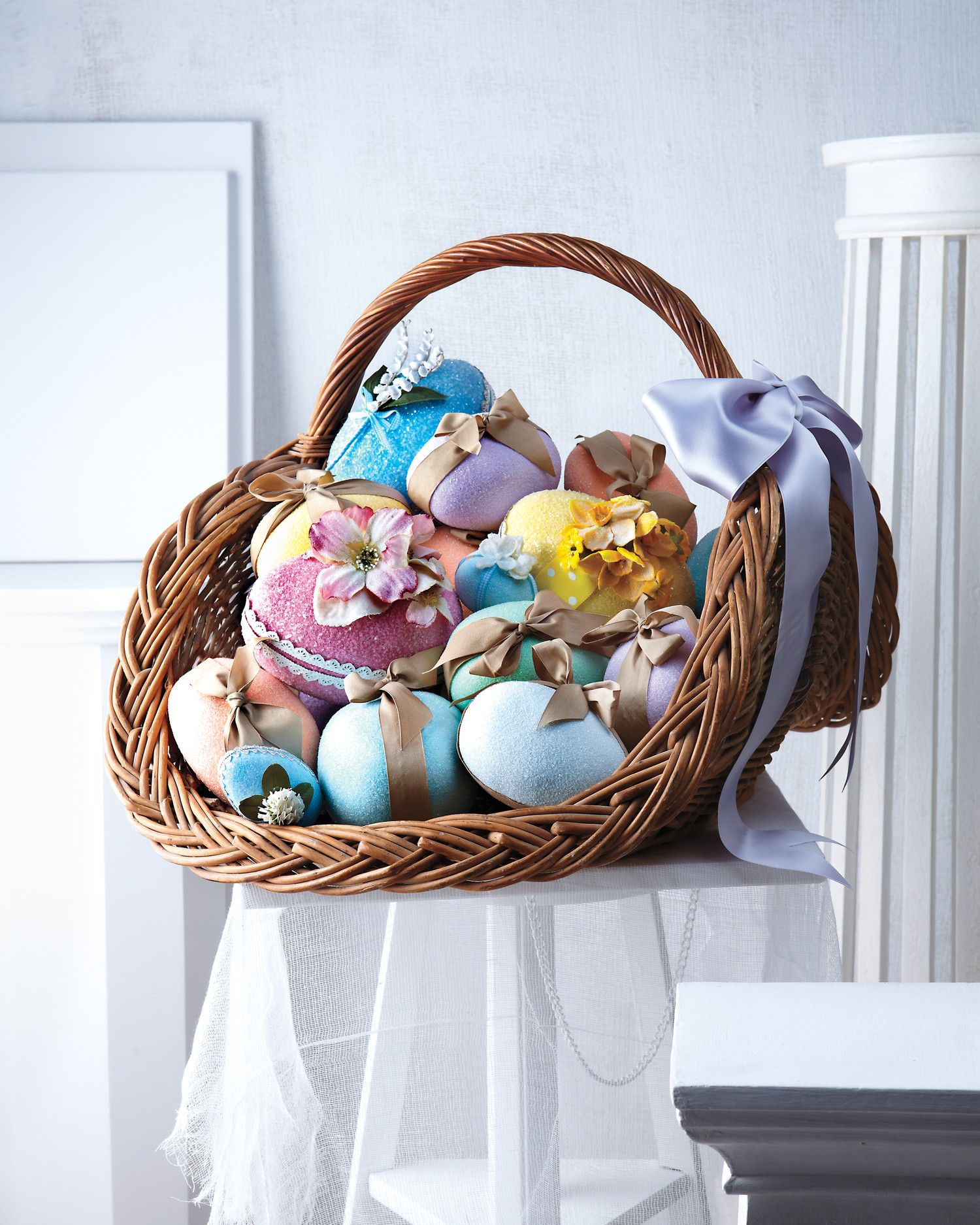 Being blue has never felt so good. Especially since little presents, such as a vintage bluebird, are tucked inside these shimmering egg boxes.