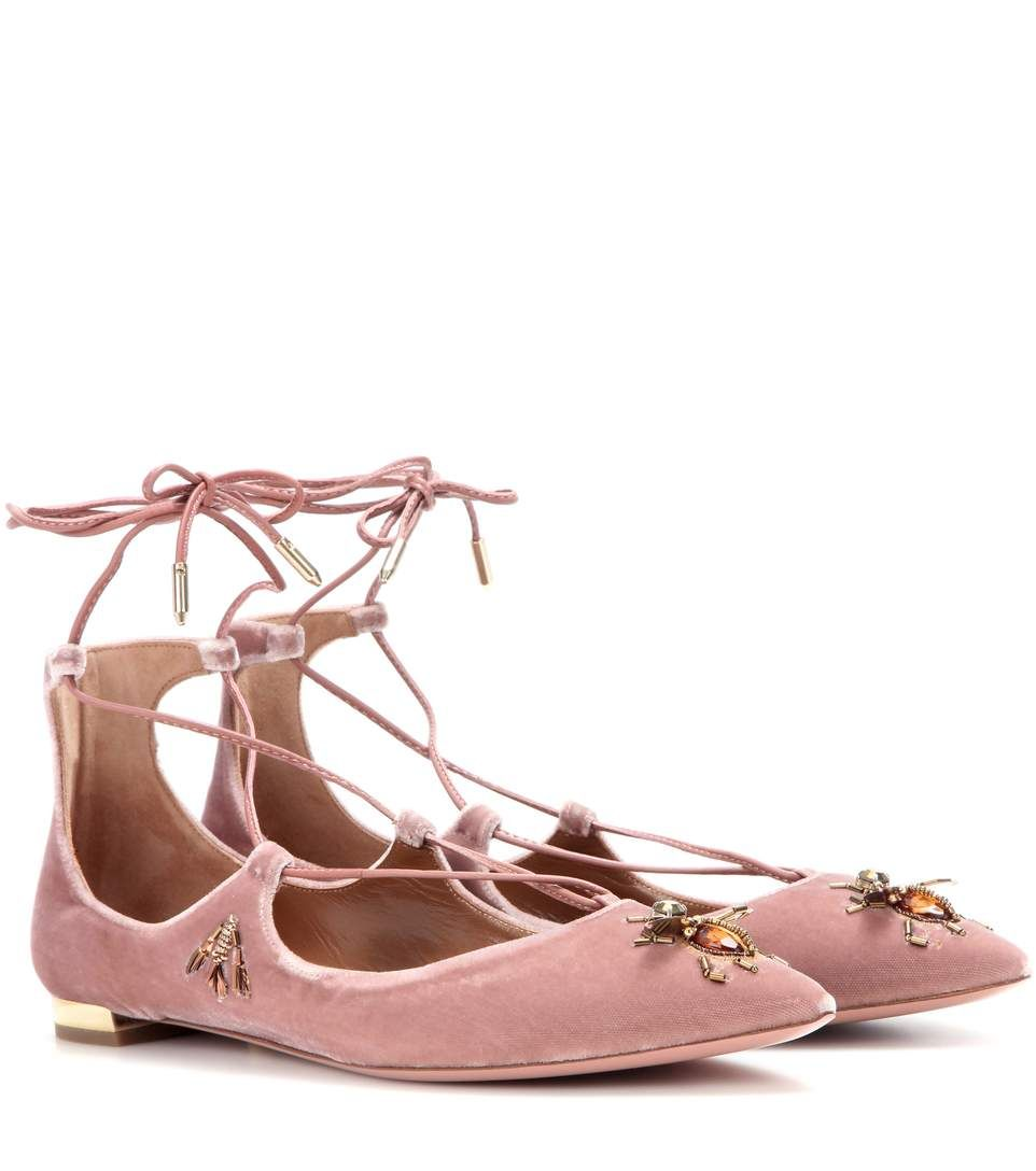 buy cheap Manchester outlet tumblr Aquazzura Christy Fauna Velvet Flats fake cheap price low price cheap price professional sale online Iz4cYke9G