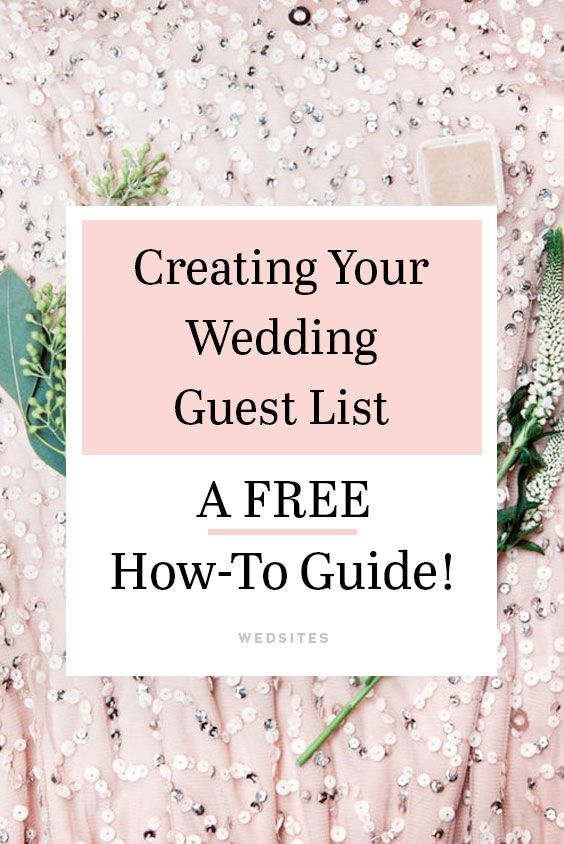 how to create your wedding guest list free worksheet