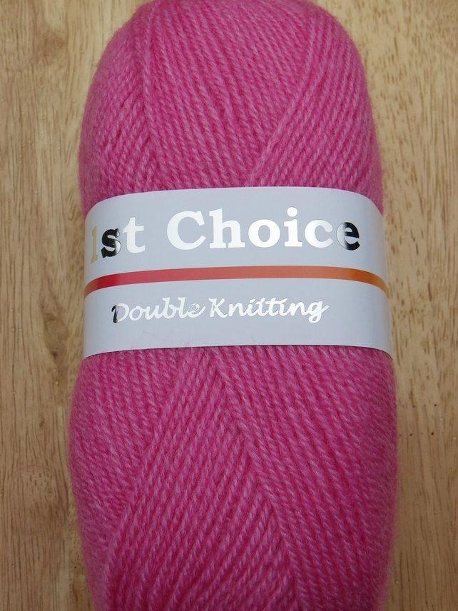 100g Woolcraft 1st choice DK knitting yarn 153 fuchsia knitting wool £1.59