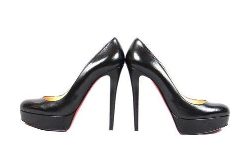 CHRISTIAN LOUBOUTIN BIANCA 140 Black LEATHER Platform PUMPS HEELS Shoes 39.5 | eBay