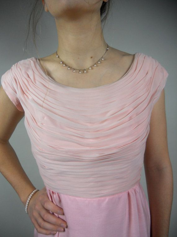 Vintage 1950s / 50s Pink Wiggle Dress by Miss Elliette of California with Matching Jacket
