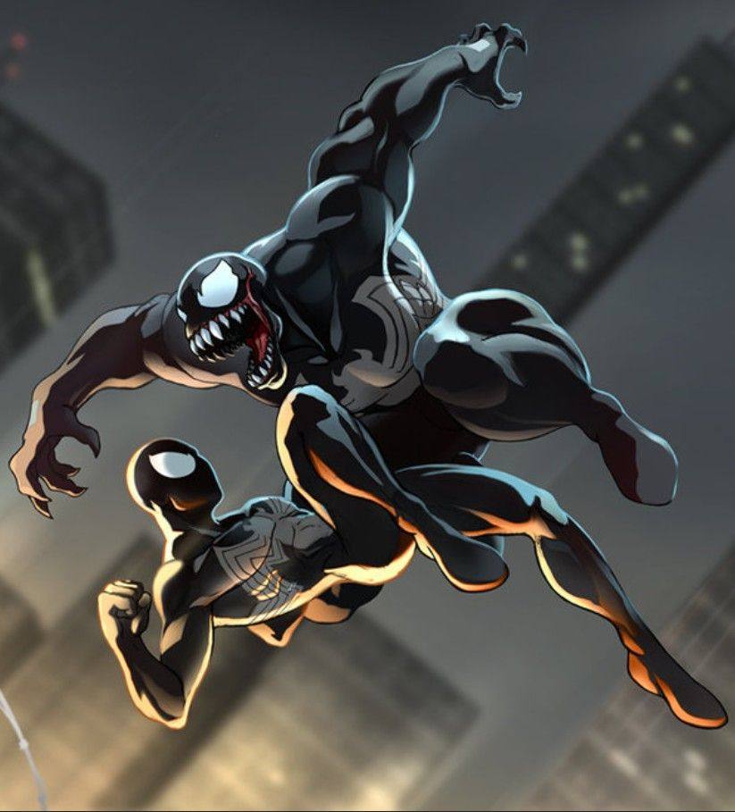 Spider-Man Vs. Venom | Black spiderman, Spiderman black ...