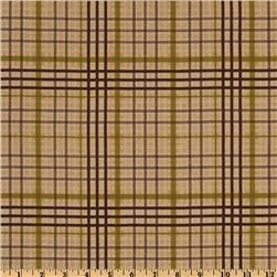 Back Country Flannel Plaid Brown  Item Number: ER-194    this ultra soft single napped (brushed on one side) flannel fabric features an all over plaid design