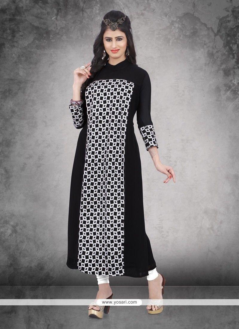 d429df7935a Stylish Weight Less Black Party Wear Kurti Model  YOKU630 Bollywood Designer  Sarees