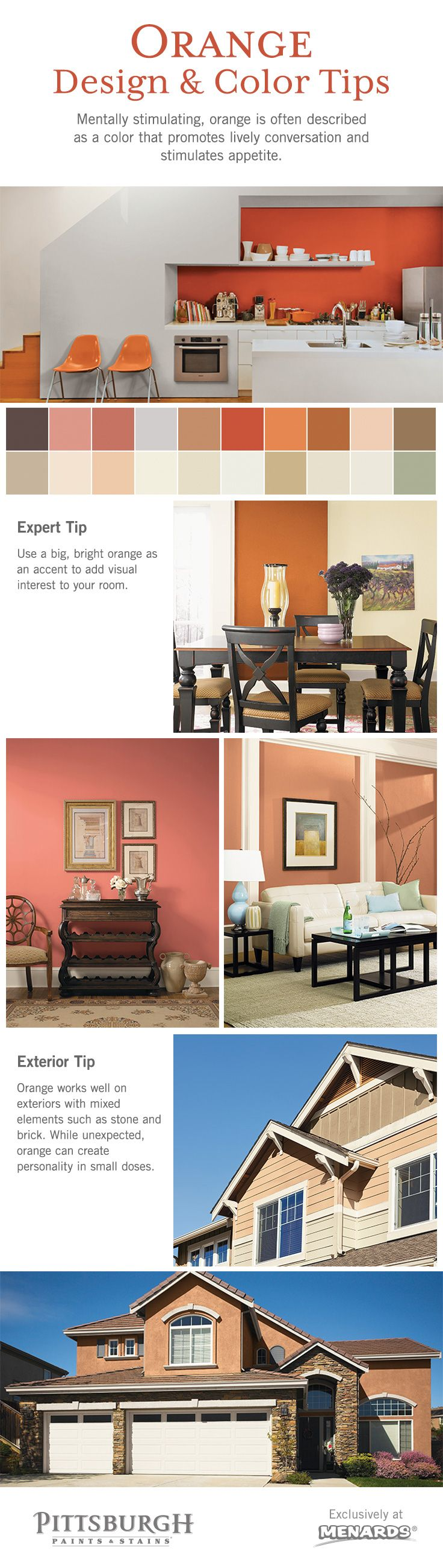 Orange color design inspiration by pittsburgh paints stains orange color design inspiration by pittsburgh paints stains at menards mentally geenschuldenfo Images