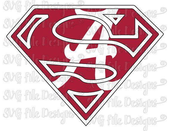 University Of Alabama Crimson Tide Superman Logo By Svgfiledesigns