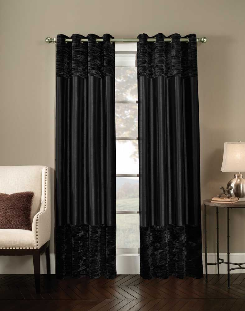 White window curtains with black pattern realtagfo