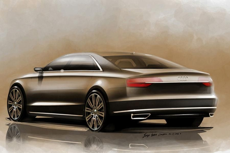 Audi Teases Facelifted 2014 With Official Sketches   Carscoops
