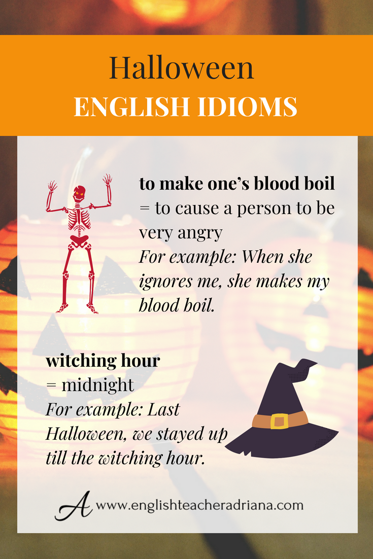 halloween is just around the corner learn how to speak about halloween in english using