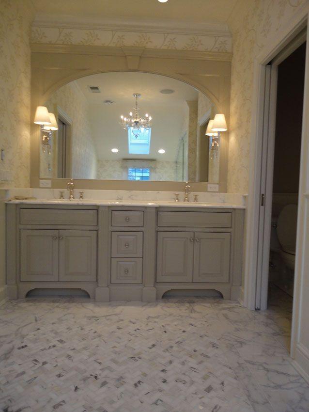Calacatta Herringbone Bathroom Vanity