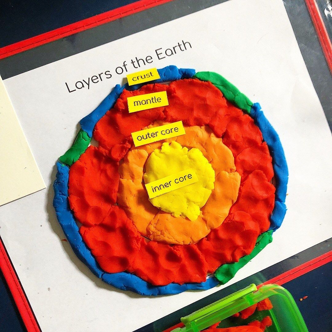 Layers Of The Earth Play Dough Mat Freebie