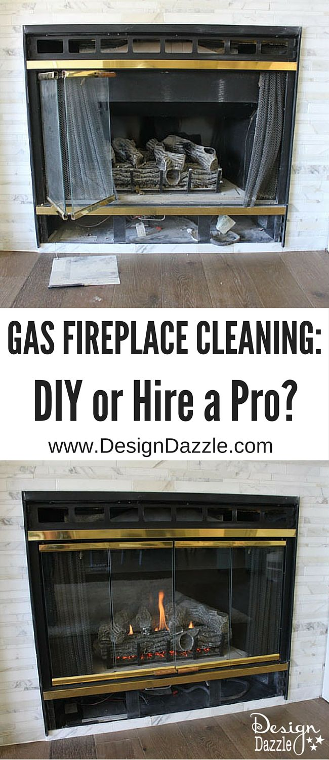 Gas Fireplace Cleaning Diy Or Hire A Professional Gas