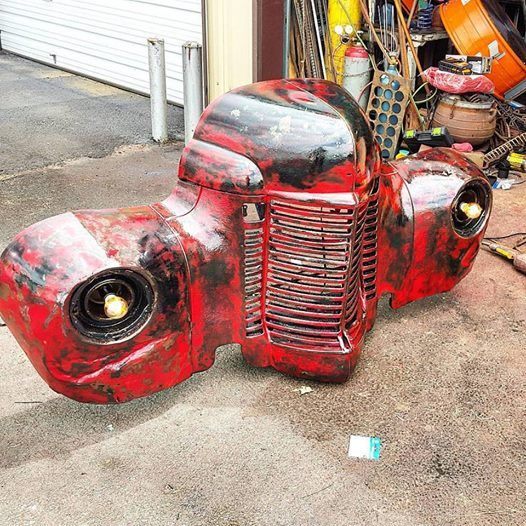 Do it yourself scrap metal art ideas made with junk yard metal and 1949 international rustic truck grill car part furniture wall art wallhanger find this pin and more on diy metal art ideas solutioingenieria Choice Image