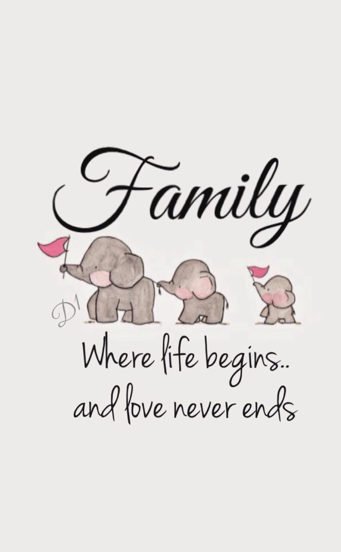 Family Where life begins.. and love never ends (With