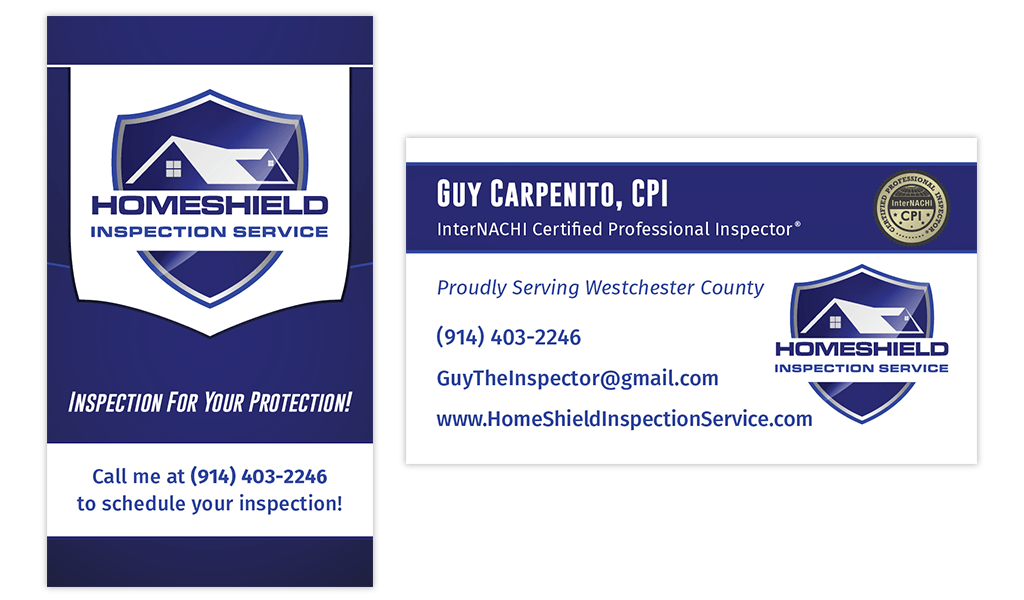 business card inspector homeshield inspection service business