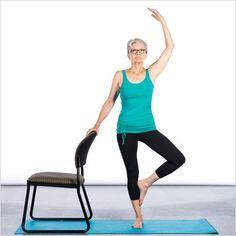 Chair Yoga Poses 7 Poses For Better Balance Chair Pose Yoga Chair Yoga Senior Fitness