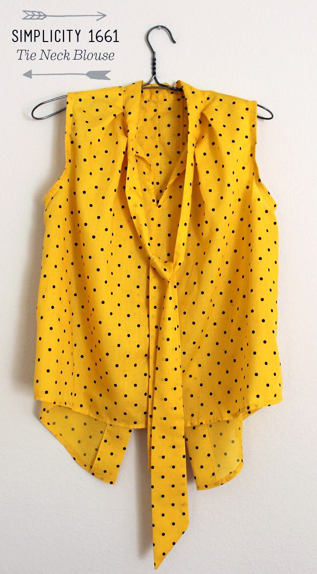 Lula Louise: Simplicity 1661 –Yellow Polka Dot Blouse
