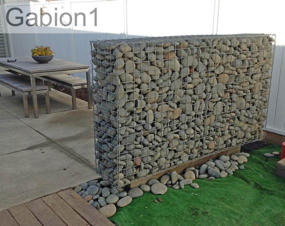 Supported gabion wall using 2 heavy duty 2100 x 1200 x Gabion wall design