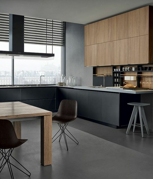 k che einrichtung wandschrank holz k che m bel kitchen. Black Bedroom Furniture Sets. Home Design Ideas