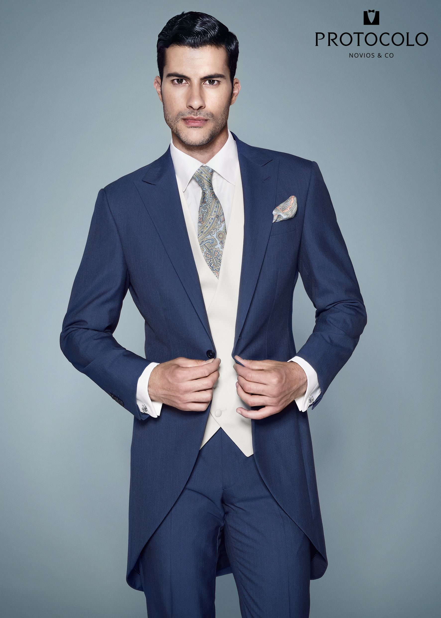 CHAQUÉ LORETO AZUL DE PROTOCOLO | Men Fashion | Pinterest | Wedding ...