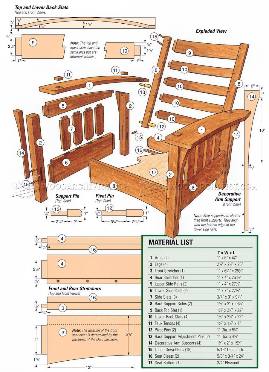 Classic Morris Chair Plans Morris Chair Game Room Chairs Morris
