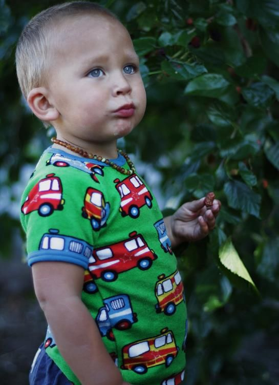 Naperonuttu terry tee - Green Alarm Cars Retro Baby Clothes - Baby Boy clothes - Danish Baby Clothes - Smafolk - Toddler clothing - Baby Clothing - Baby clothes Online