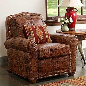 CROCO RECLINER. King RanchRustic HomesRustic Cabin DecorSouthwestern  StyleWestern ...