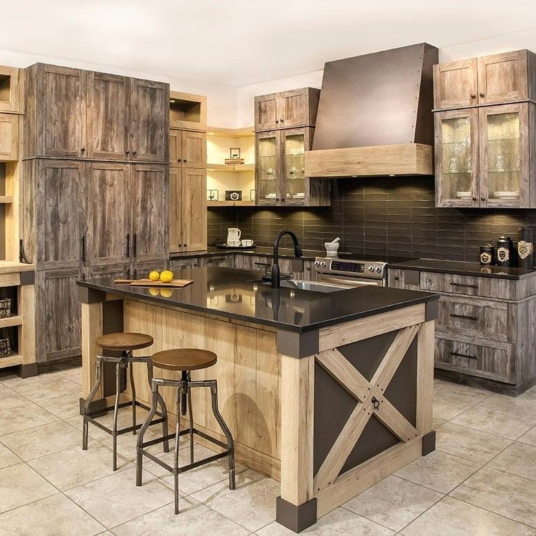 cabin countertops Google Search Rustic kitchen