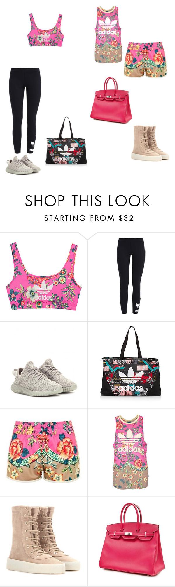 """""""Sin título #207"""" by loricioiu on Polyvore featuring moda, adidas Originals, adidas, Topshop y Hermès"""
