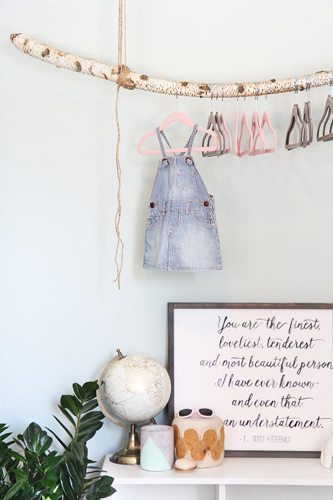 diy ast garderobe f rs baby babyzimmer ideen pinterest diy ste das baby und ast. Black Bedroom Furniture Sets. Home Design Ideas