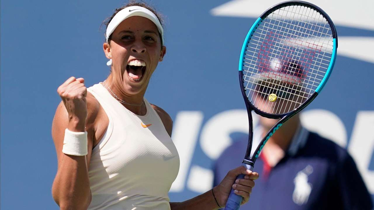 Last Year S Finalist Madison Keys Crushes Dominika Cibulkova To Reach Us Open Quarters Best Tennis Racquet Tennis Cibulkova