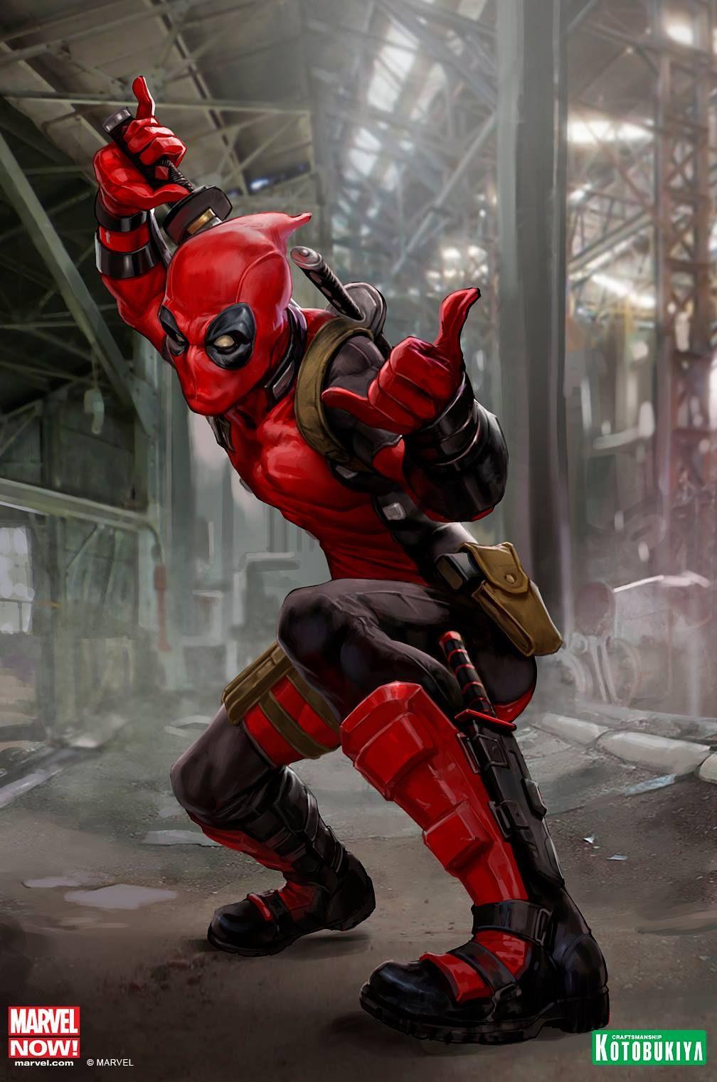 Deadpool Concept Art from Kotobukiya - Deadpool, Marvel ...